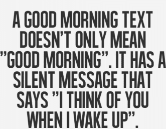 Good morning text - image