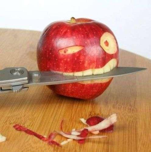 Funny food - apple