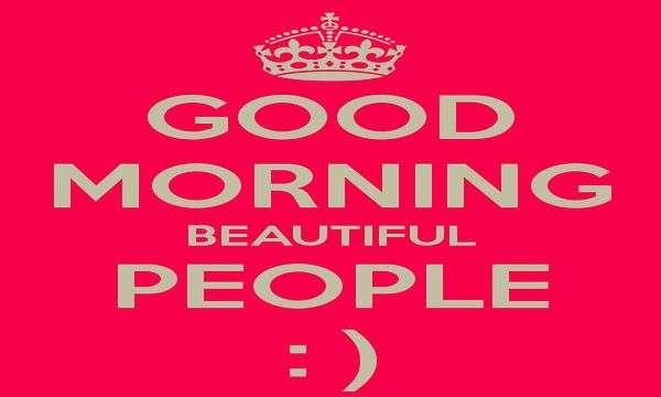 Keep calm and good morning beautiful people