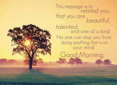 Messages for good morning - for you