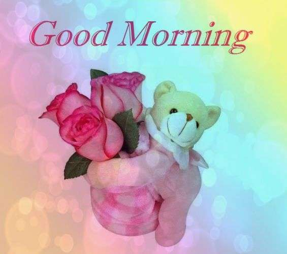 Good Morning - Wishes Images with Teddy Bear