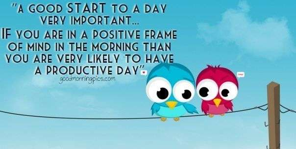 good start to a day very important | goodmorningpics.com