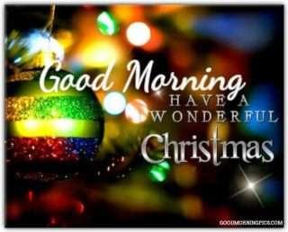 good morning and merry christmas
