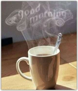 good morning hot coffee