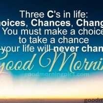 Three C's In Life...