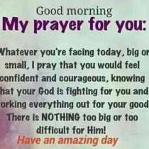 Good Morning my prayer for you