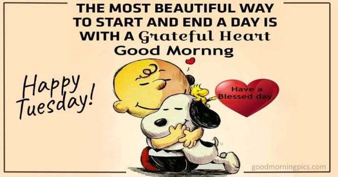 Snoopy Pictures with phrases to share to wish you a happy Tuesday