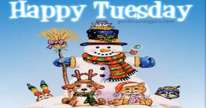 christmas images to wish a happy tuesday