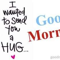 This hug is for you .. Good morning
