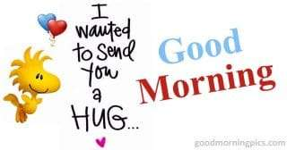 Good morning hug
